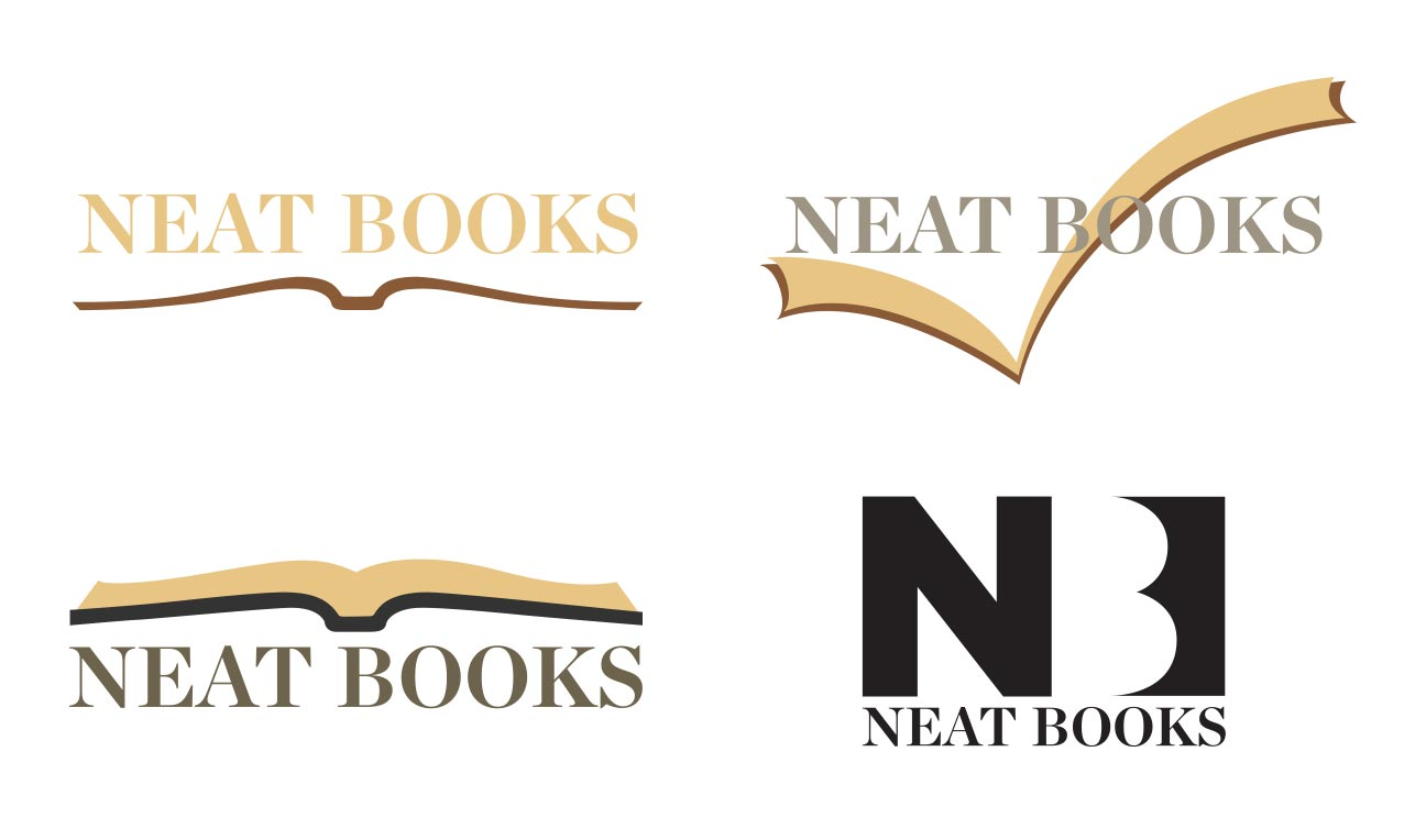 Neat Books Logo Concepts