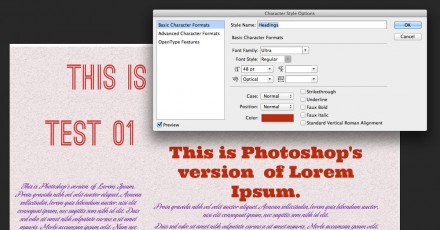 Text styles in Photoshop CS6