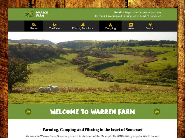 Warren Farm Website Design