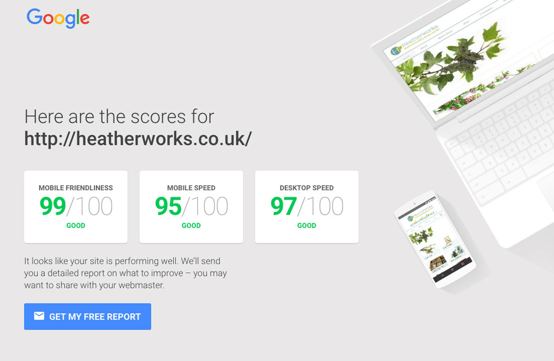 Heatherworks Website Speed Testing Tool